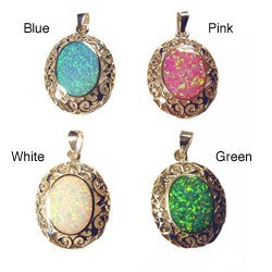 Sterling Silver and Opal Pendant (Thailand)