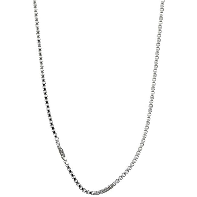 Sterling Essentials Sterling Silver 18-inch Venetian Box Chain (1mm)