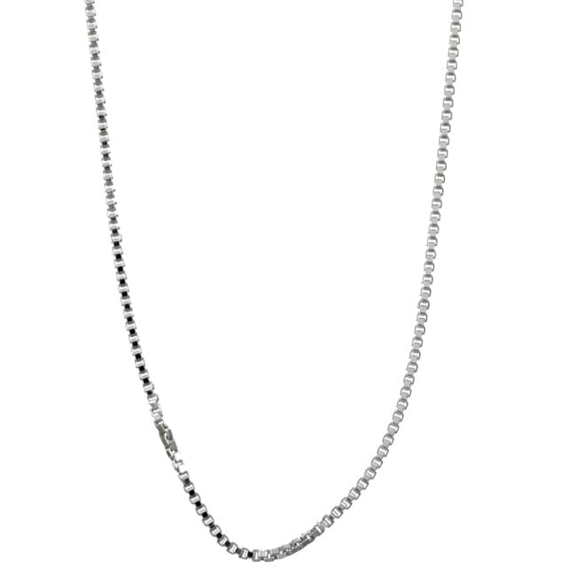 Sterling Essentials Sterling Silver 24-inch Venetian Box Chain (1mm)