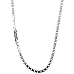 Sterling Essentials Sterling Silver 18-inch  Venetian Box Chain (2mm)