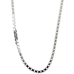 Sterling Essentials Sterling Silver 24-inch Venetian Box Chain (2mm)