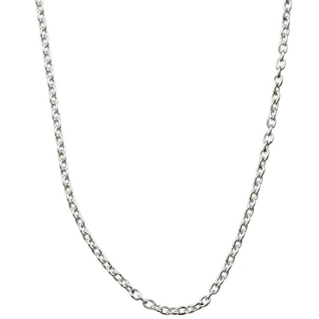 Sterling Essentials Sterling Silver 18-inch Cable Chain (1mm)