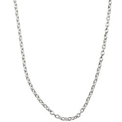 Sterling Essentials Sterling Silver 24-inch Cable Chain (1mm)