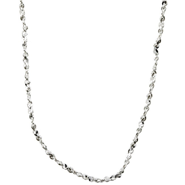 Sterling Essentials Sterling Silver 18-inch Twisted Serpentine Chain (1mm)