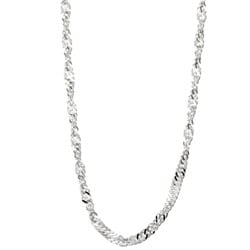 Sterling Essentials Sterling Silver 24-inch Singapore Chain (2mm)
