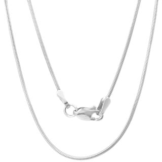 Sterling Essentials Sterling Silver 24-inch Snake Chain (1mm)