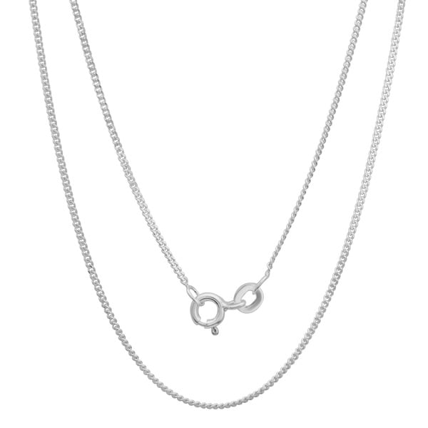 Sterling Essentials Sterling Silver 20-inch Curb Chain (1.25mm)