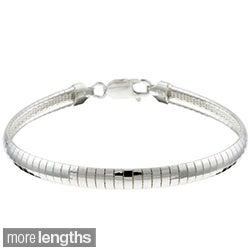 Sterling Essentials Sterling Silver 6mm Omega Bracelet (7 or 8 inch)