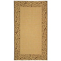 Safavieh Indoor/ Outdoor Natural/ Brown Rug (4' x 5'7)