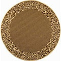 Indoor/ Outdoor Brown/ Natural Rug (5'3 Round)