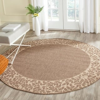Safavieh Indoor/ Outdoor Brown/ Natural Rug (6'7 x Round)