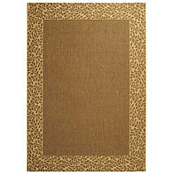 Indoor/Outdoor Brown/Natural Polypropylene Rug (5'3 x 7'7)