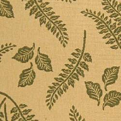 Indoor/ Outdoor Ferns Natural/ Olive Rug (4' x 5'7)