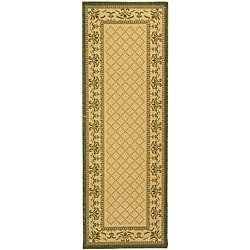 Indoor/ Outdoor Royal Natural/ Olive Runner (2'4 x 6'7)