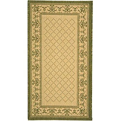 Indoor/ Outdoor Royal Natural/ Olive Rug (2'7 x 5')