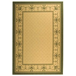 Safavieh Indoor/ Outdoor Royal Natural/ Olive Rug (5'3 x 7'7)