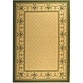 Safavieh Indoor/ Outdoor Royal Natural/ Olive Rug (6'7 x 9'6)