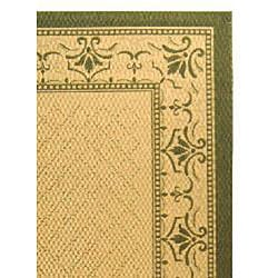 Indoor/ Outdoor Royal Natural/ Olive Rug (7'10 x 11')