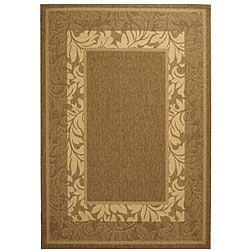 Indoor/ Outdoor Beachview Brown/ Natural Rug (5'3 x 7'7)
