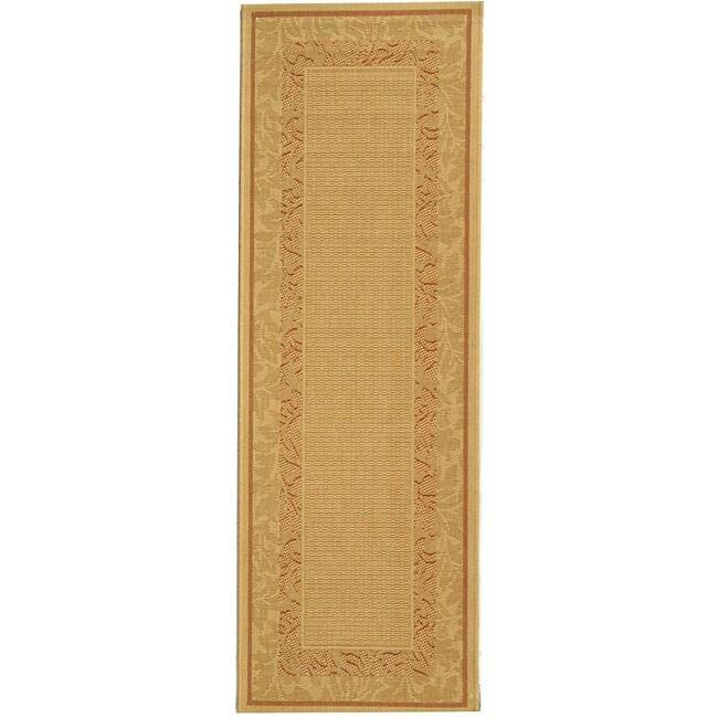 Safavieh Indoor/ Outdoor Beachview Natural/ Terracotta Rug (2'4 x 6'7)
