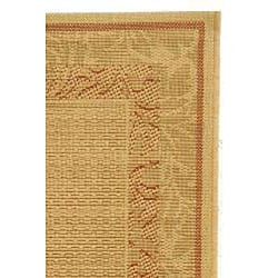 Indoor/ Outdoor Beachview Natural/ Terracotta Rug (2'4 x 6'7)