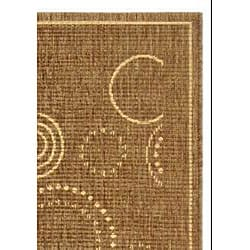 Safavieh Indoor/ Outdoor Resort Brown/ Natural Rug (2'7 x 5')