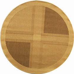 Safavieh Indoor/ Outdoor Lakeview Natural/ Brown Rug (5'3 Round)