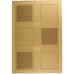 Indoor/ Outdoor Lakeview Natural/ Brown Rug (7'10 x 11')