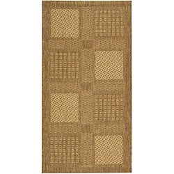 Indoor/ Outdoor Lakeview Brown/ Natural Rug (7'10 x 11')