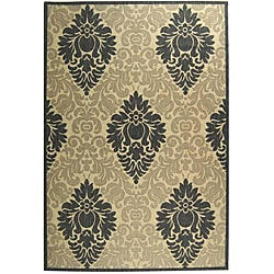 Indoor/ Outdoor St. Barts Sand/ Grey Rug (7'10 x 11')