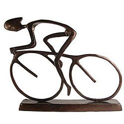 Handcrafted Cyclist Sculpture
