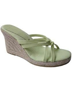 Tommy Bahama No Knotsense Green Wedge Sandals