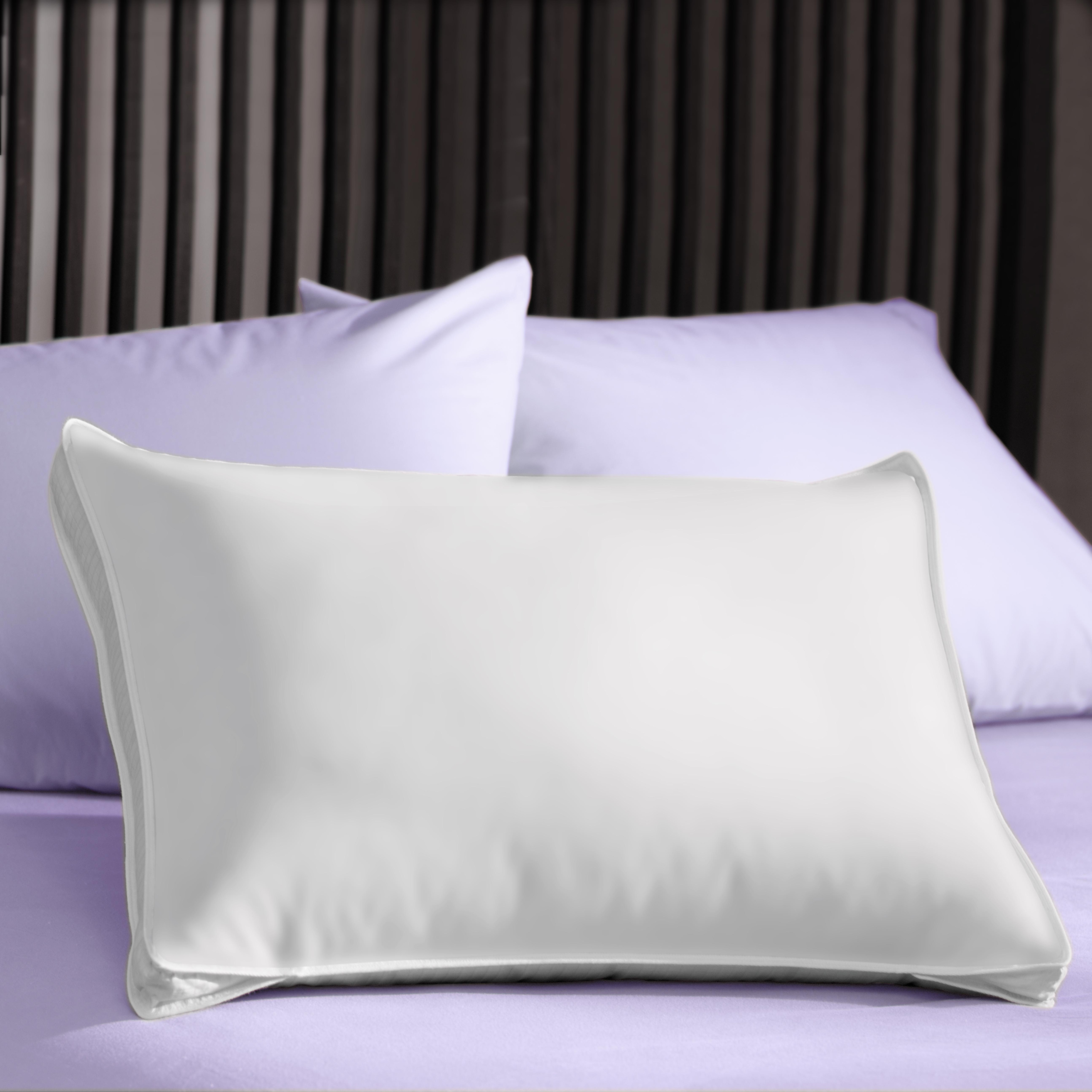 Extra Firm 3 Inch Gusset Natural Pillows Set Of 2