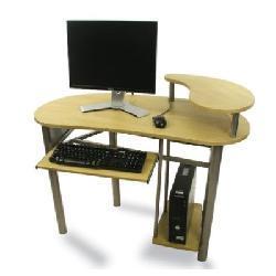 Natural Wood Finish Large Computer Desk/ Table