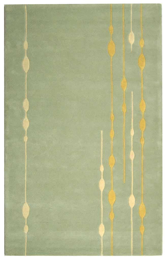 Safavieh Handmade Soho Vines Mint Green New Zealand Wool Rug (5' x 8')