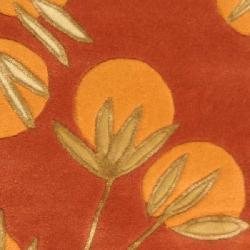 Safavieh Handmade Soho Summer Rust New Zealand Wool Rug (2' x 3')