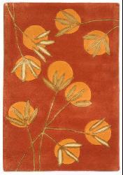 Handmade Soho Summer Rust New Zealand Wool Rug (2' x 3')