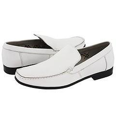 Steve Madden Model White Leather Loafers