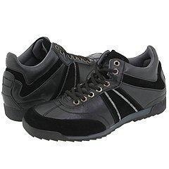 Steve Madden Ikkon Black Leather Athletic