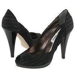 Steve Madden Richh Black Pinstripe Pumps/Heels