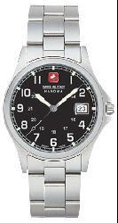 Swiss Military Men's Black Conquest Steel Watch