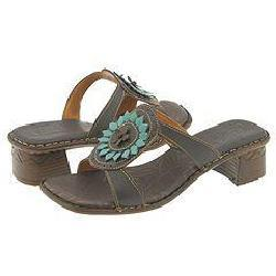 Tsonga intengo choc/turquoise leather sandals