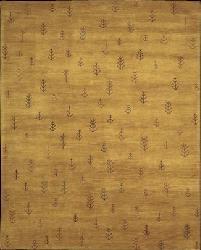 Nourison Hand-tufted Desert Dawn Gold Rug (8' x 11')