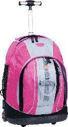 J World 'Twinkle' 18-inch Pink Rolling Backpack with Lightning Wheels