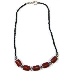 Red Beaded Necklace (Kenya)