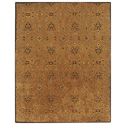 New Zealand Wool Dark Amber Rug (5' x 8')
