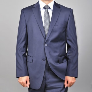 Mantoni Men's Solid Navy Blue 2-button Wool Suit