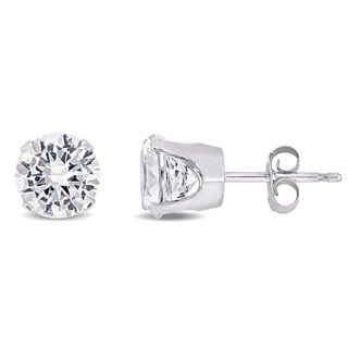 Miadora 10k Gold Created White Sapphire Stud Earrings (2 5/8ct TGW)