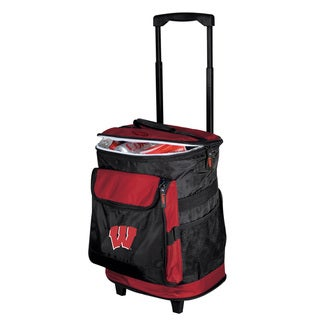 NCAA University of Wisconsin 'Badgers' Insulated Rolling Cooler