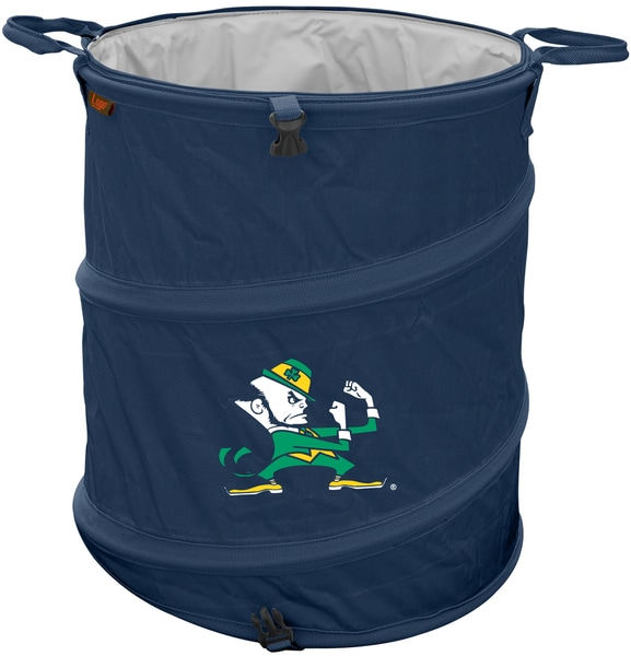 Notre Dame Blue Nylon Collapsible Lightweight Leak-proof Trash Can